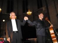 Avec Gary Hoffman à l'issue d'une intégrale des sonates de Beethoven