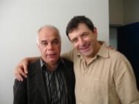 Avec le chef d'orchestre et compositeur Salvador Brotons