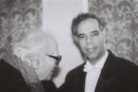 Avec le compositeur Olivier Messiaen
