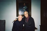 Avec le pianiste Alexis Weissenberg