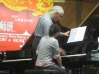 Masterclasse au Conservatoire supérieur de Shanghai