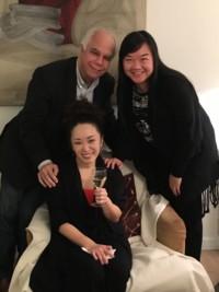 Avec mes deux élèves Sheng Li et Natsuki Nishimoto