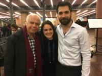Avec ses deux élèves Paulina Dumanaite et Adrian Blanco