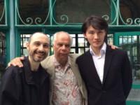 Avec les pianistes NiuNiu et Pompa-Baldi