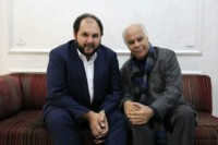 Avec le chef d'orchestre Vahan Mardirossian